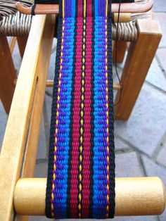 Custom Guitar Strap Reserved for Heather by ASpinnerWeaver on Etsy, $40.00 #inkle weaving
