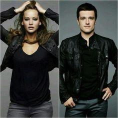 Jennifer Lawrence and Josh Hutcherson looking very Dauntless!