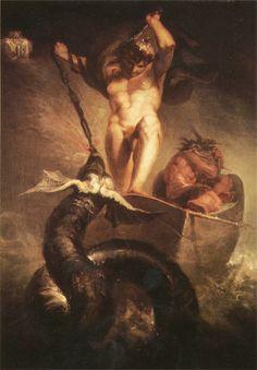 Henry Fuseli - Thor battling the Midgard dragon