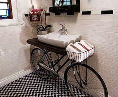usare la bici come pezzo di arredamento