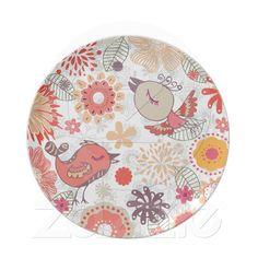 doodle birds dinner plate from Zazzle.com
