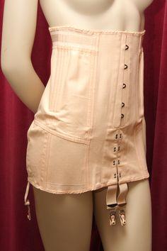 1950s peach cotton corset