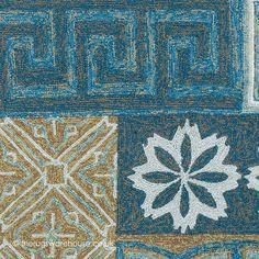 Namada Blue Rug (texture close up), a hand-woven polypropylene loop outdoor rug (available in 3 sizes, from £300.00) http://www.therugswarehouse.co.uk/modern-rugs3/outdoor-rugs/namada-blue-rug.html #rugs #outdoorrugs