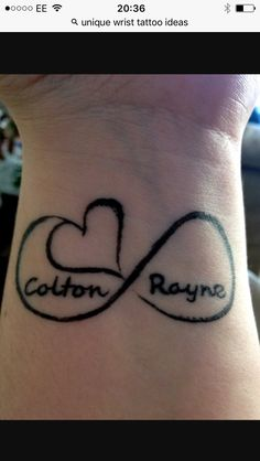 ▷ ideas for wrist tattoo - become unique in the trend - Baby Name Tattoos – cute tattoo on wrist – black heart tattoo design - Heart Tattoos With Names, Name Tattoos For Moms, Name Tattoos On Wrist, Baby Name Tattoos, Small Wrist Tattoos, Tattoo On, Mom Tattoos, Trendy Tattoos, Cute Tattoos