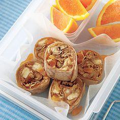Peanut Butter, Banana and Granola Wraps #recipe