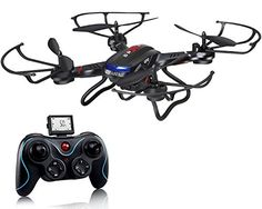 Holy Stone RC Quadcopter Drone with HD Camera RTF 4 Channel with Altitude Hold Function,Headless Mode and One Key Return Home, Color Black: Toys & Games Rc Drone, Drone Quadcopter, Gifts For Teenage Guys, Mode 3d, Pilot, Drone With Hd Camera, Video Camera, Cameras Nikon, Remote Control Drone