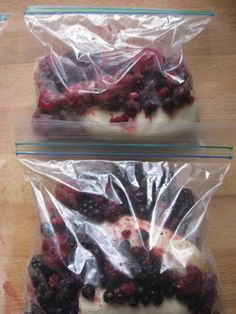 Doing this before school starts for easy and healthy breakfasts. New Nostalgia: Ziplock Freezer Smoothie Packs