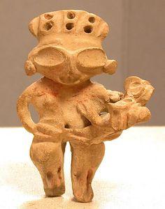 Ceramic Mother and Child Figure Date: 12th–9th century BCE Geography: Mexico, Mesoamerica Culture: Tlatilco Medium: Ceramic Dimensions: ...