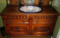 Discover how this antique vanity was created.