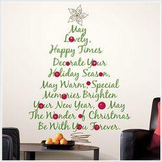 Per decorare la sala riunioni o accogliere i vostri ospiti facendo percepire loro il clima natalizio scegli un adesivo a forma di albero di Natale per pareti... non lasciano traccia una volta rimossi ma rendono caldo e accogliente il vostro ufficio durante le feste!