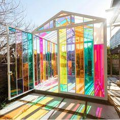 The Chromacabana: A Unique Technicolor Creative Space in Highland Park, Los Angeles, CA Exterior Design, Interior And Exterior, Dream Garden, Home And Garden, Cheap Home Decor, Unique Home Decor, My Dream Home, Future House, Decoration