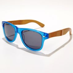SOLO Eyewear Bamblues - they're made form recycled bamboo; sales fund eye care for the needy