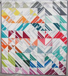 Percolate by Emily Cier. Seattle, Washington. Pieced by Kathy Del Beccaro. Quilted by Angela Walters.
