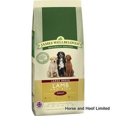 James Wellbeloved Lamb Rice Large Breed Dog Food 4kg James Wellbeloved Lamb Rice Large Breed Dog Food is a complete naturally hypoallergenic adult dog food.