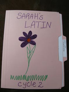 Sola Gratia Mom: Free CC Cycle 2 Latin - Hands on Learning Folder Match Up (1st Conjugation Endings)