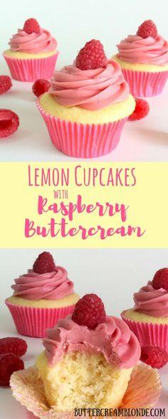 Lemon Cupcakes With Raspberry Buttercream Info