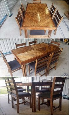 Fabulous DIY Wooden Pallet Ideas and Projects: Bring up with something really inspiring in your house through the favorable attractive use of the wood pallet in your house furniture. Wooden Pallet Projects, Wooden Pallets, Wooden Diy, Pallet Ideas, Pallet Furniture, Home Furniture, Pallet Dining Table, Farmhouse Table, Rustic Wood