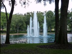 Fountains at the entrance to Heathrow in Lake Mary, Florida