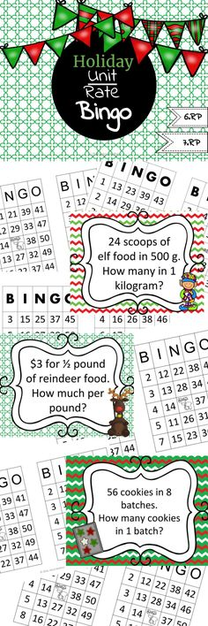 Paper football math activity ratio proportions with stem career christmasholiday unit rate bingo fandeluxe
