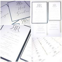 Monogram wedding invitations initials simple elegant pearlescent design Monogram Wedding Invitations, Invites, Initials, Elegant, Simple, Handmade, Design, Classy, Chic