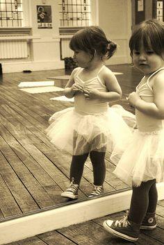 Ballet dress & converse toddler style :-)