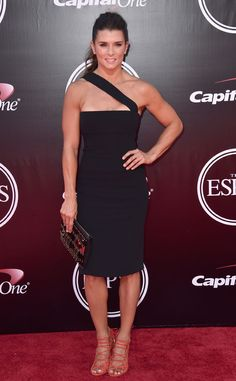 Danica Patrick from 2016 ESPYs Red Carpet Arrivals  The NASCAR star shows off her amazing arms.