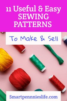11 Easy FREE patterns to make and sell. Tutorials using fabric scraps for easy projects to sell. Diy Projects To Sell, Easy Sewing Projects, Sewing Projects For Beginners, Sewing Tutorials, Money Making Crafts, Crafts To Make And Sell, How To Make, Craft Business, Business Tips