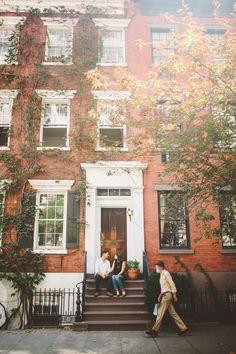 New York City Engagement photographs || Jennifer + Daniel exploring their neighborhood|| Manhattan, NY at The Shalom Imaginative || Los Angeles & Destination Wedding & Family Photography