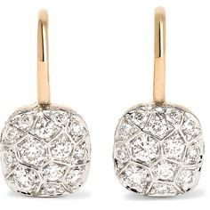 Pomellato Nudo 18-karat rose gold diamond earrings ($15,410) ❤ liked on Polyvore featuring jewelry, earrings, rose gold, druzy earrings, pomellato earrings, diamond jewelry, red jewelry and 18k diamond earrings