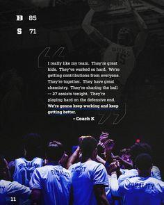 Coach K, Duke Blue Devils, Duke Basketball, Play Hard, Chemistry