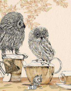 owls tea by Gabrellia Barouch