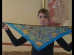 I love my silk scarves but I am never sure how to tie them. This is a great video!