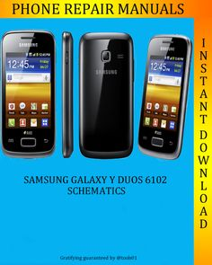 Samsung Galaxy Y Duos S6102 Service Manual is a professional book in which you can get a better understanding of this cell phone models. It contains comprehensive instructions and procedures of high quality, which can save you a lot of time and help you to decide the best with ease.