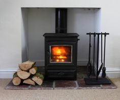 Cosy real fire at Dairy Barns, Norfolk