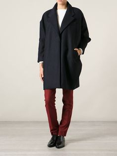 Mm6 By Maison Martin Margiela Oversized Tapered Coat - Societe Anonyme - Farfetch.com