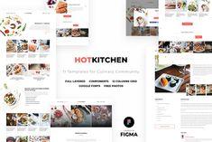 HotKitchen: UI/UX Culinary Templates by FreshPixels on @creativemarket