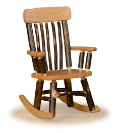 Rustic Hickory U0026 Oak Childrensu0027 Twig Back Rocking Chair