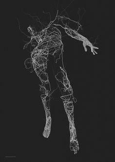 "culturenlifestyle: "" Generative Artwork by Janusz Jurek Polish designer and illustration Janusz Jurek explores the different shapes of generative illustration through the human body. Generative art is. Art Génératif, Generative Kunst, Human Body Art, Kunst Online, Colossal Art, Anatomy Art, Art Graphique, Belle Photo, Art Inspo"