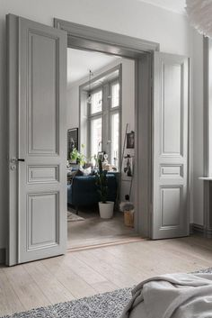 White French Doors | French Doors With Glass Panels | Double Glazed Internal French Doors 20190417