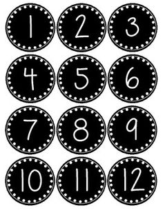 By popular demand... a smaller version of my polka dot number labels. Great for calendars!