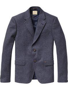 Scotch   Soda Tweed blazer with pochet Tweed Blazer 37e1de024