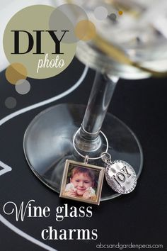 DIY Photo Wine Glass Charms - perfect for the holidays!   (with @zinkhappy photo printer giveaway) #ad