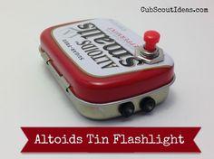Altoids Tin Flashlight for Webelos Craftsman