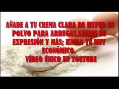 AÑADE A TU CREMA CLARA DE HUEVO EN POLVO PARA ARRUGAS,LINEAS DE EXPRESIÓN Y MÁS; HAZLA TÚ MUY ECONÓ - YouTube