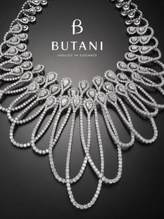 Diamond Necklaces : Image Description Coming from a culture rich in jewellery design and making, Butani goes beyond classics with an extravagant display of overlaying loops and dangles of diamonds for the woman who seeks to express her individuality High Jewelry, Bling Jewelry, Jewelry Art, Wedding Jewelry, Jewelry Design, Fashion Jewelry, Jewlery, Diamond Pendant Necklace, Diamond Jewelry