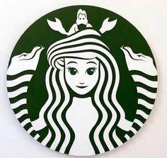 Little Mermaid Starbucks logo