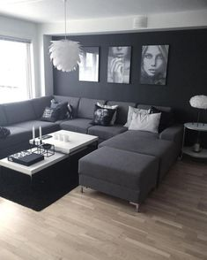 ⭐️ 47 Dark Living Room Design for Home Decor – Wohnzimmer Ideen Dark Living Rooms, Living Room Decor Cozy, Elegant Living Room, Home Living Room, Apartment Living, Interior Design Living Room, Living Room Designs, Modern Living, Masculine Living Rooms