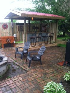 25 Outdoor Bar Ideas and Amazing Deck Design Ideas Corbin Hahn this is a nice outdoor bbq bar area The post 25 Outdoor Bar Ideas and Amazing Deck Design Ideas appeared first on Outdoor Ideas. Diy Outdoor Bar, Outdoor Kitchen Bars, Outdoor Kitchen Design, Patio Design, Outdoor Rooms, Outdoor Living, Outdoor Bar And Grill, Outdoor Ideas, Outdoor Gardens