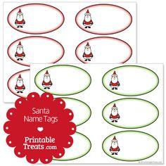 Free Printable Santa Name Tags from PrintableTreats.com