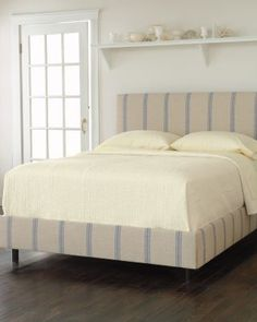 French Stripe Bed and Headboard